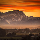 Zugspitze at Sunset